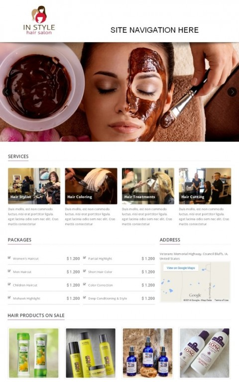 Redwand Custom Salon website development
